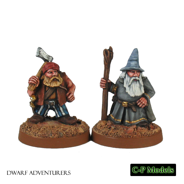 Adventuring dwarf wizard & assistant