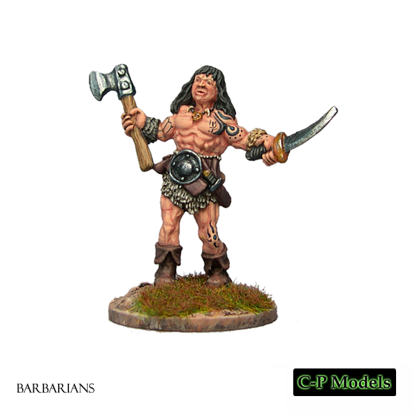 Barbarian with Axe & Sword 1