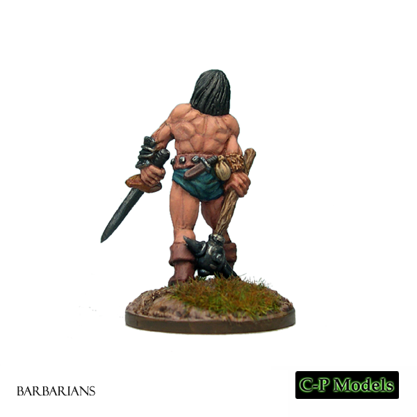 Barbarian with Sword & Spiked Mace 2