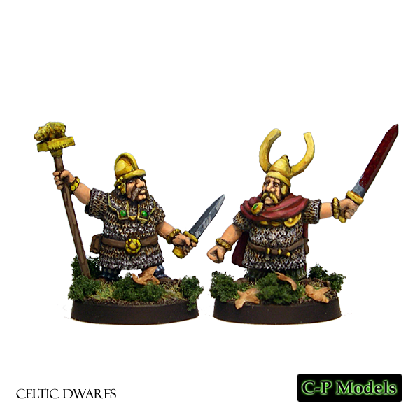 Celtic Dwarf chieftain & standard bearer