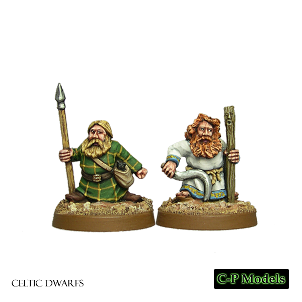 Celtic Dwarf druid and apprentice