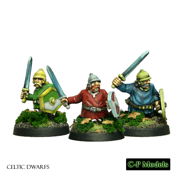 Celtic Dwarfs with helmet and tunic