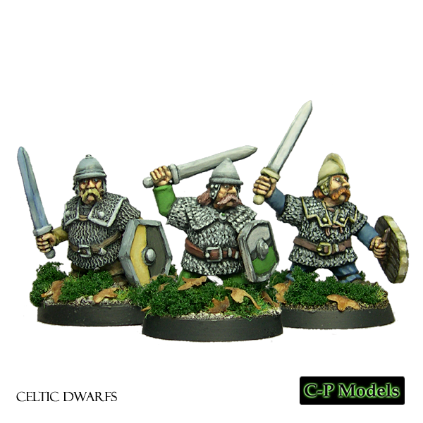 Celtic Dwarfs with helmets and mail