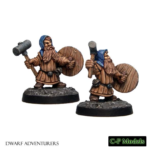 Dwarf warriors with hammer & shield 1