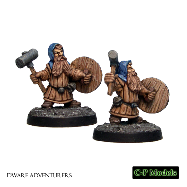 Dwarf warriors with hammer & shield 1