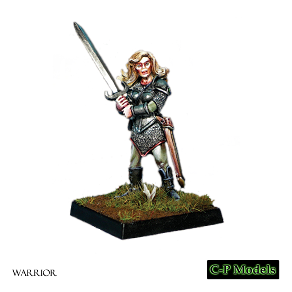 Female warrior with sord