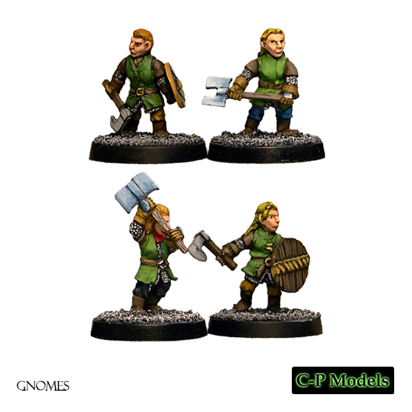 Gnome shield maidens