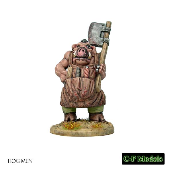 Hog-man butcher with chopper