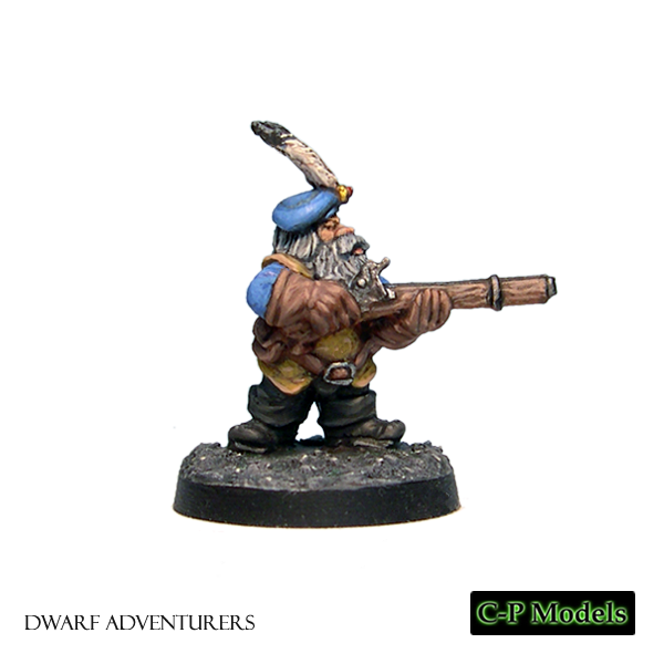 Shamus Dwarf adventurer with firearm