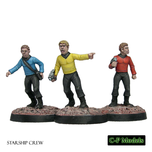 Starship crew weapons ready