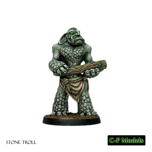 Stone troll with club