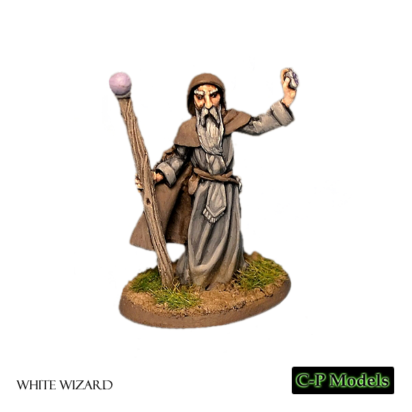 The white wizard 28mm fantasy miniature