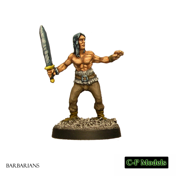 Tore barbarian with sword