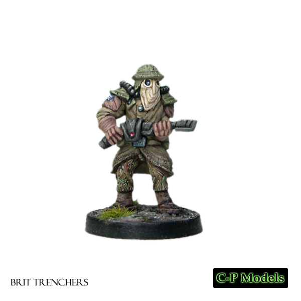 Brit trencher advancing