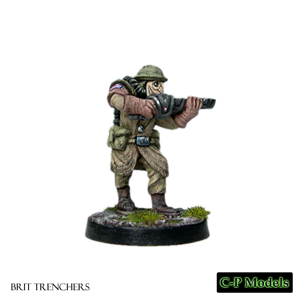 Brit trencher firing