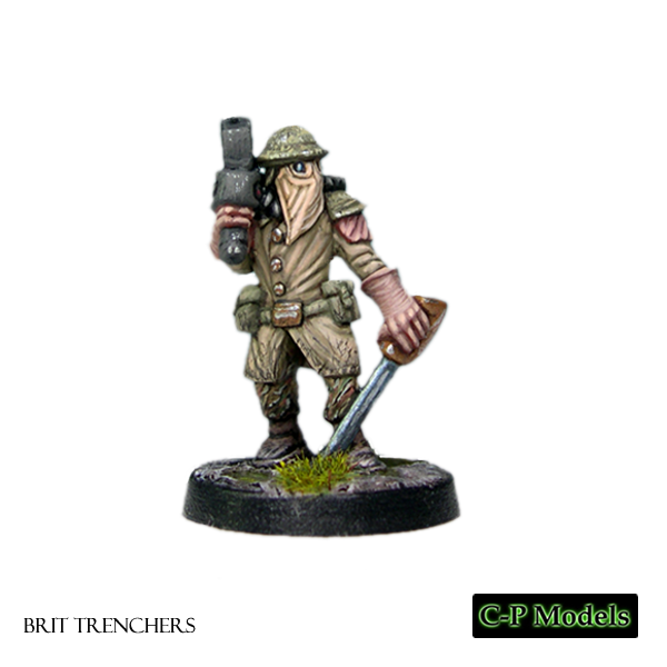Brit trencher officer