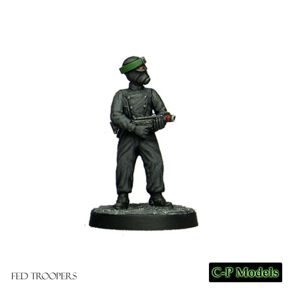 Fed trooper firing