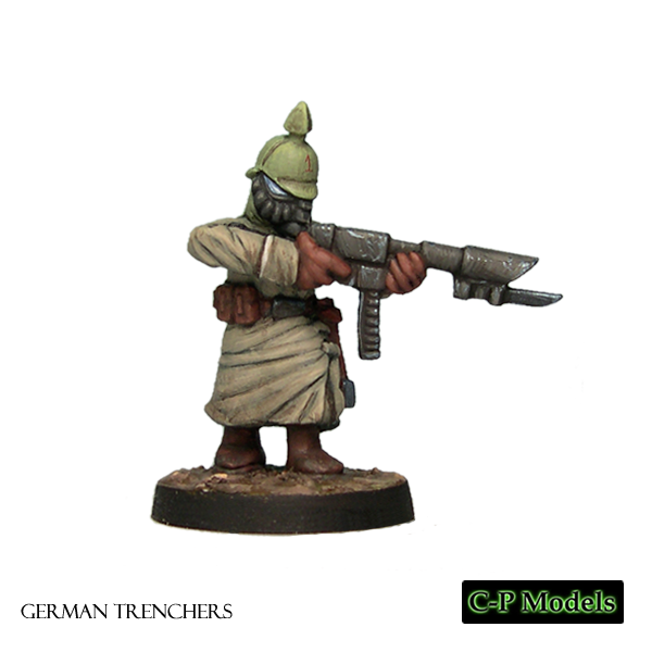 German trooper advancing