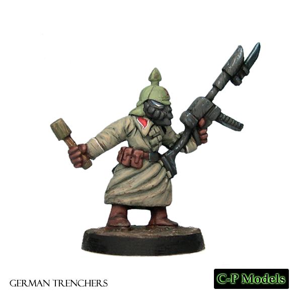 German trooper with grenade