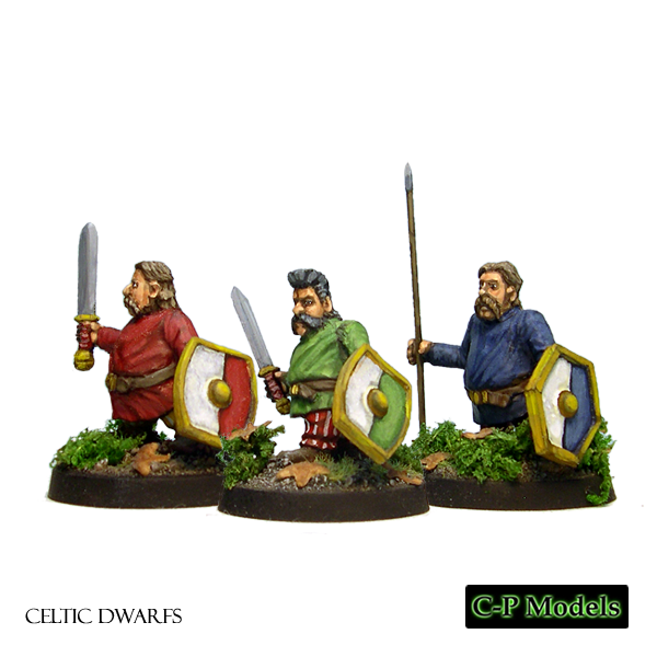 Celtic Dwarf warriors with open hands
