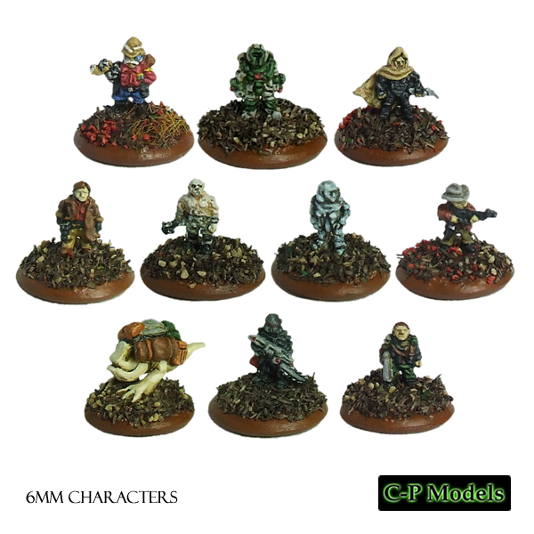 6mm sci-fi characters