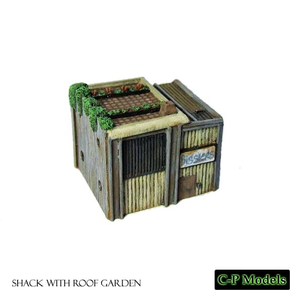 Shack with roof garden