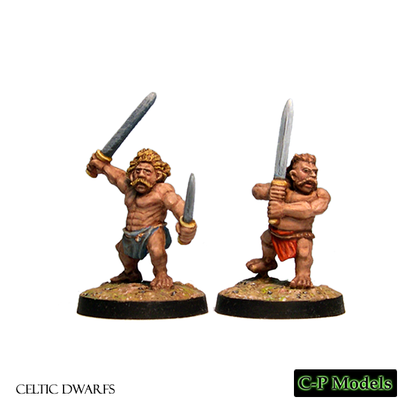 Celtic Dwarf berserkers with swords