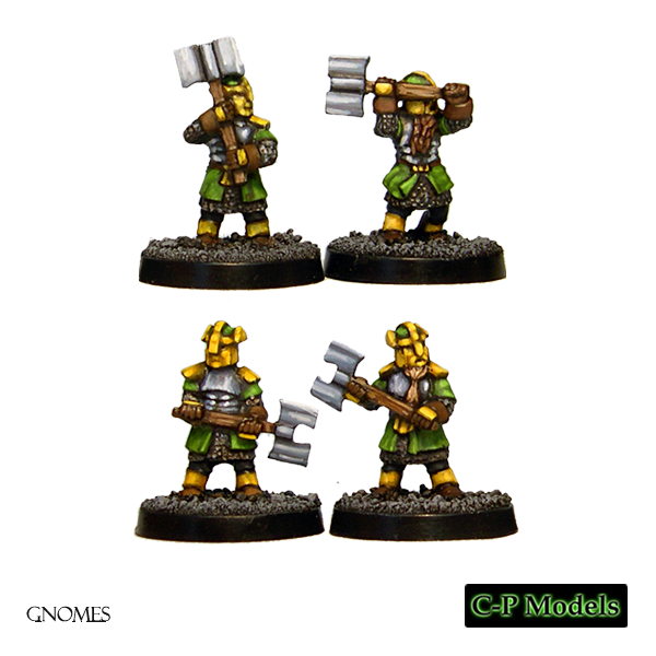 Gnome heavy infantry with axes