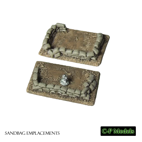 Sandbag emplacements