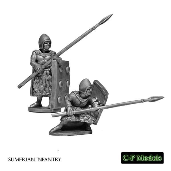 Sumerian infantry studded cloaks